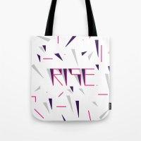 Rise No.2 - White Tote Bag