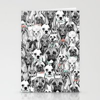 just dogs coral mint Stationery Cards