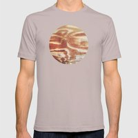 Planetary Bodies - Wood Mens Fitted Tee Cinder SMALL