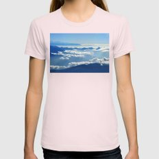 Mountains and Clouds in Nepal  Womens Fitted Tee Light Pink SMALL