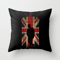 11th Doctor UK Flag Throw Pillow