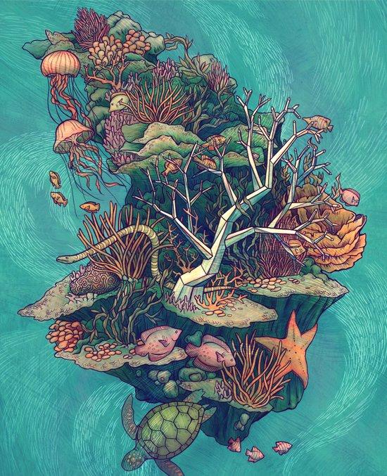 Coral Communities Art Print