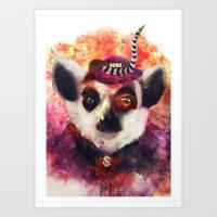 Lemur ( The Pimp Le-Mur … Art Print