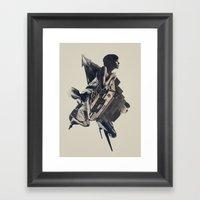 Heat Lightning Framed Art Print