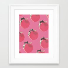 Apple Pattern Framed Art Print