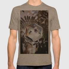 Alien Probe Mens Fitted Tee Tri-Coffee SMALL