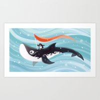 Grandpa Orca Art Print