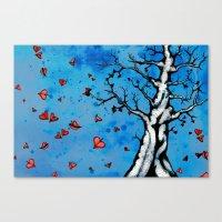 Fall Heart Tree Canvas Print