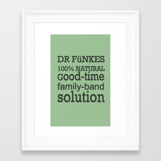 Dr. Funke's 100% natural, good-time family-band solution, 2 Framed Art Print