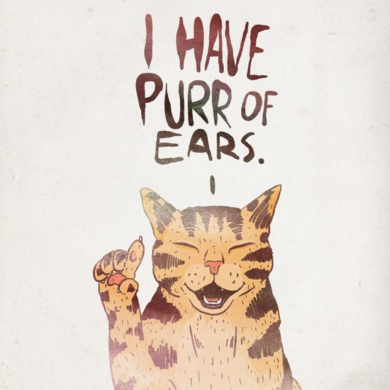 I HAVE PURR OF EARS. Canvas Print