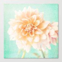 Flower Peachy Bloom Canvas Print