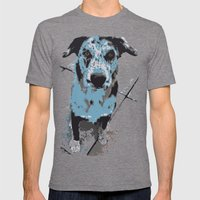 Catahoula Catawhat Mens Fitted Tee Tri-Grey SMALL
