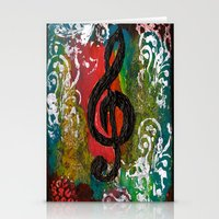 Create Music  Stationery Cards