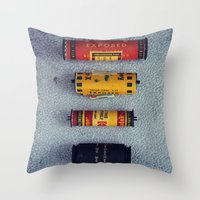 Old Film Rolls Throw Pillow
