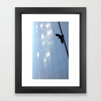 Covid Shadow Flying Acro… Framed Art Print