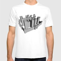 Castle Mens Fitted Tee White SMALL