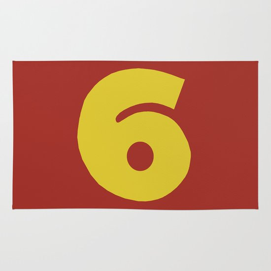 Number 6 Area & Throw Rug