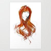 'Fringe' Fashion Illustration Art Print