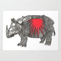 rino Art Print