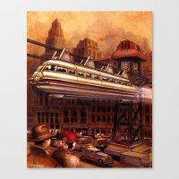 Monorail Canvas Print