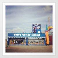 Tom's Coney Island Art Print