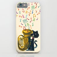 Happy Cat With A Tuba iPhone 6 Slim Case