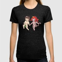 Adam And Eve Womens Fitted Tee Tri-Black SMALL