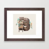 Resort Type - Letter B Framed Art Print