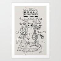 Traveling Carpet of Human Observation Center Art Print