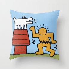 Keith Haring + Charles S… Throw Pillow