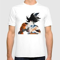 Son Goku - Digital Water… Mens Fitted Tee White SMALL