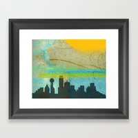 Locals Only: Dallas In D… Framed Art Print