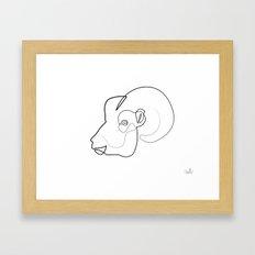 Oneline Ram Framed Art Print