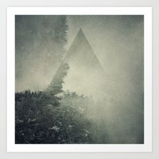 Hidden on the Hill Art Print