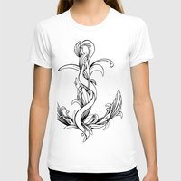 Anchor (outline) Womens Fitted Tee White SMALL