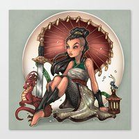 Heart Of A Dragon Canvas Print