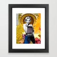 Golden Marilyn Monroe  By Zabu Stewart Framed Art Print