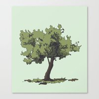 Life is Beautiful Olive Tree Canvas Print