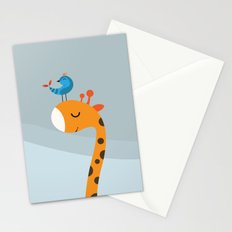 Orange And Blue Stationery Cards