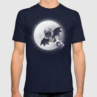 Bat Bat Mens Fitted Tee Navy SMALL
