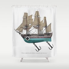 To catch a sea monster Shower Curtain