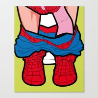 The secret life of heroes - SpiderPoo Canvas Print