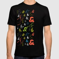 Ampersand Stories 3 Black Mens Fitted Tee SMALL