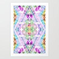 Wildflower kaleidoscope Art Print