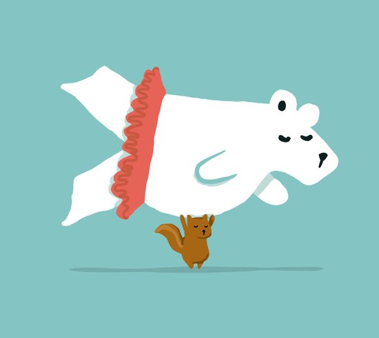 You Lift Me Up - Polar bear doing ballet Art Print
