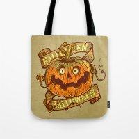 Halloween dark khaki Tote Bag