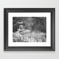 Train Spotting Framed Art Print