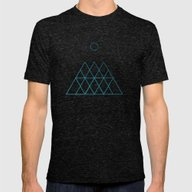 Geometry Mens Fitted Tee Tri-Black SMALL