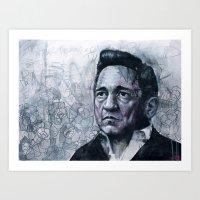 Man In Black - Johnny Ca… Art Print