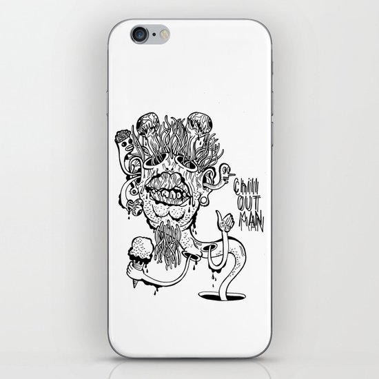 Chill Out Man iPhone & iPod Skin